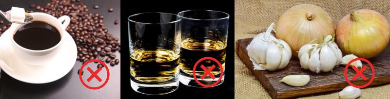zakázané potraviny
