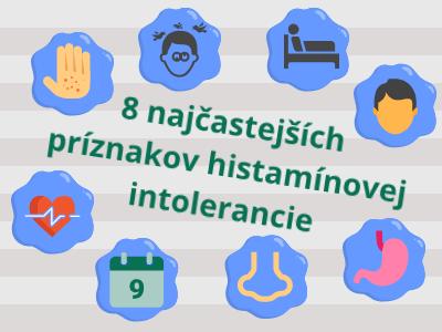 Histamínová intolerancia - najčastejšie príznaky