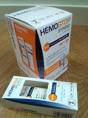 HEMOSTOP SYNBIO 60+30 kapsúl - tablety + gel max 75 ml