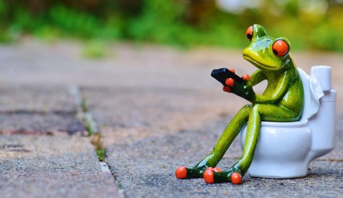 žaba na záchode - Hnačka