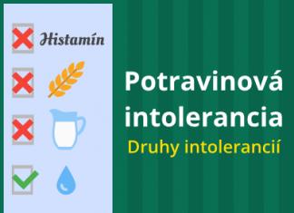Potravinová intolerancia – druhy intolerancií