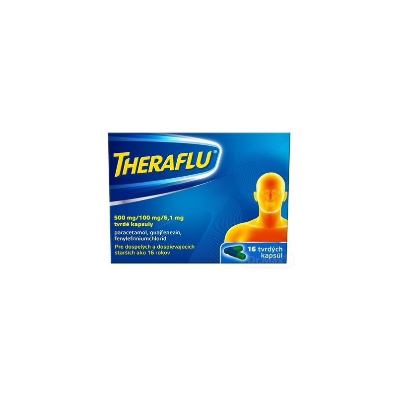 Theraflu chrípka a kašeľ tvrdé kapsuly