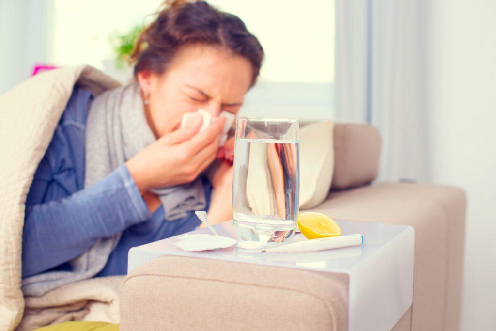 Chrípka, upchatý nos