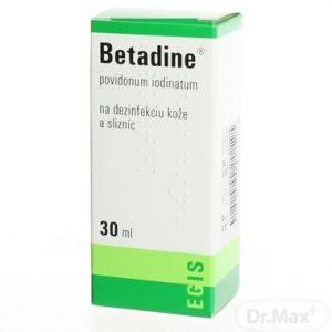 Betadine na dezinfekciu a hojenie