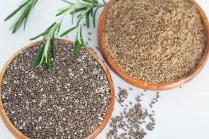 Pomleté chia semienka ako náhrada vajíčok a múky