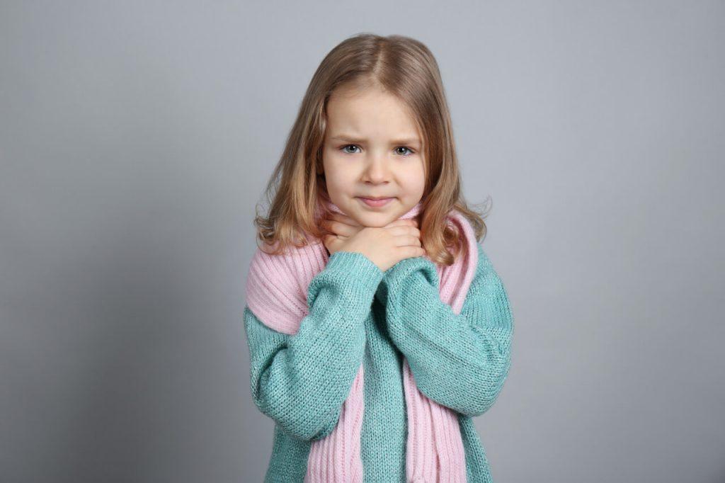 Bolesť hrdla u detí