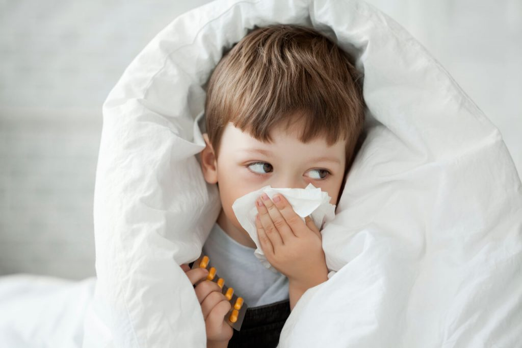 Kašeľ a upchatý nos u detí, nádcha