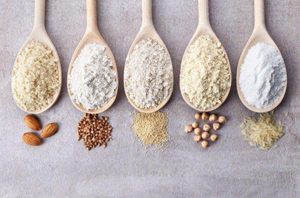 Gluten free múky (mandľová, pohánková, amarantová, cícerová, ryžová múka), múky bez lepku