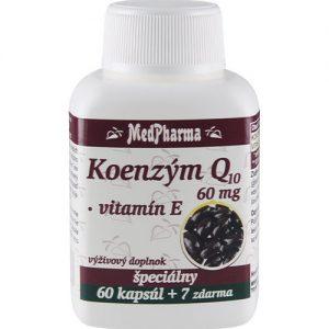 Koenzým Q10 60 mg + Vitamín E (60+7 kapsúl)