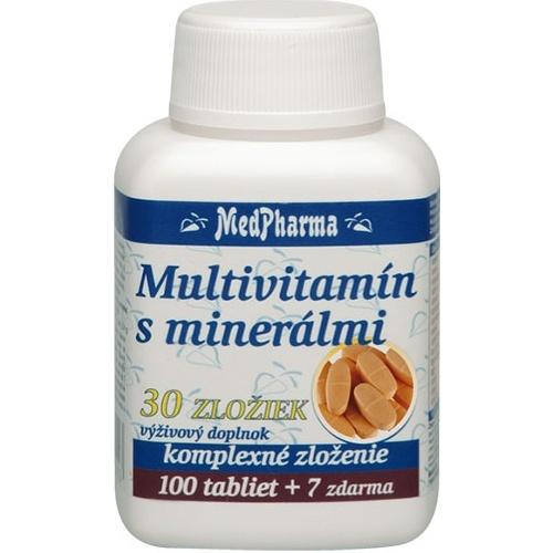 Multivitamín s minerálmi 30 zložiek (100+7 tabliet)