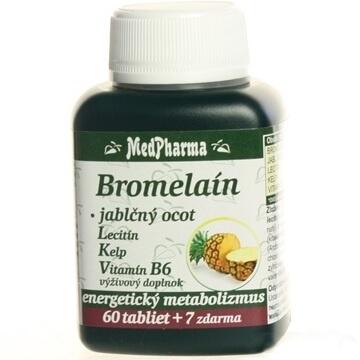 Bromelaín 300 mg + jablčný ocot + Lecitín (67 tabliet)