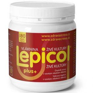 Lepicol plus+ vláknina, enzýmy, probiotiká (180 kapsúl)